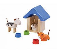 """Деревянная игрушка """"Домашние животные и аксессуары для них"""", PlanToys"""