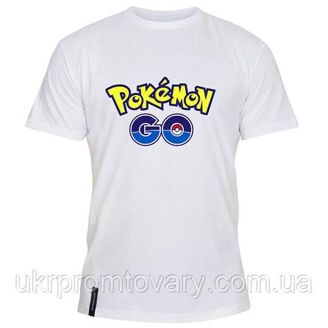 Мужская футболка - Pokemon go, отличный подарок купить со скидкой, недорого, фото 2