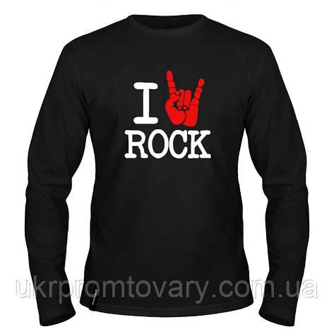 Лонгслив мужской - I Love Rock, отличный подарок купить со скидкой, недорого, фото 2