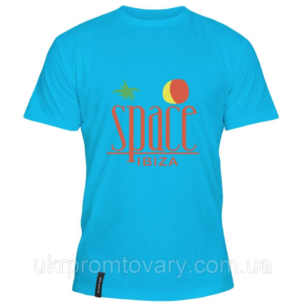Мужская футболка - Space Ibiza, отличный подарок купить со скидкой, недорого