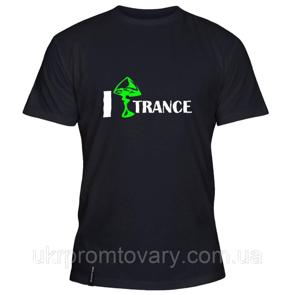 Мужская футболка - Транс грибов, отличный подарок купить со скидкой, недорого