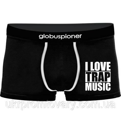 Мужские трусы - I love trap music, отличный подарок купить со скидкой, недорого, фото 2