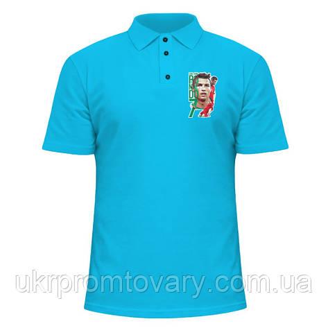 Мужская футболка Поло - Cristiano Ronaldo., отличный подарок купить со скидкой, недорого, фото 2