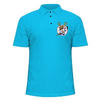 Мужская футболка Поло - Олень, отличный подарок купить со скидкой, недорого