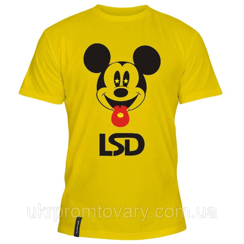 Мужская футболка - Mickey Mouse LSD, отличный подарок купить со скидкой, недорого