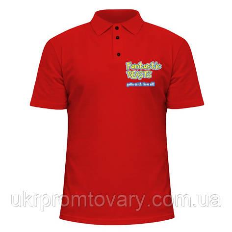 Мужская футболка Поло - Fantastic Beasts Pokemon, отличный подарок купить со скидкой, недорого, фото 2