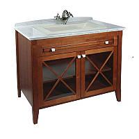 """Классическая мебель для ванной 98,5 см """"орех"""" Villeroy&Boch Hommage"""