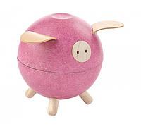 Свинка - копилка, розовая, Plan Toys, фото 1