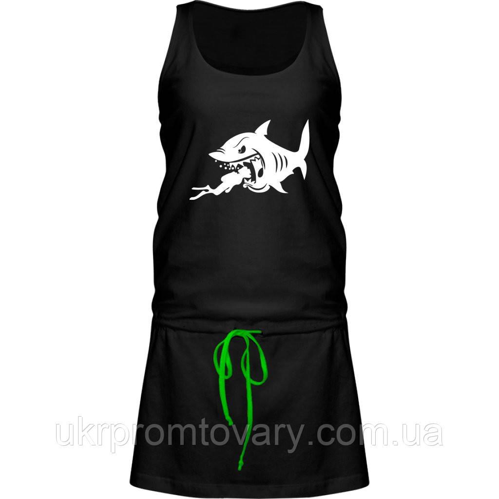 Платье - Акула и дайвинг, отличный подарок купить со скидкой, недорого