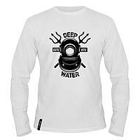 Лонгслив мужской - Deep Water, отличный подарок купить со скидкой, недорого