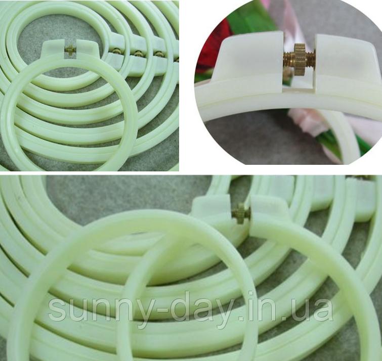 Пяльцы круглые пластиковые без заломов, диаметр 7см