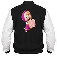 Куртка - бомбер - Маша с бутербродом, отличный подарок купить со скидкой, недорого
