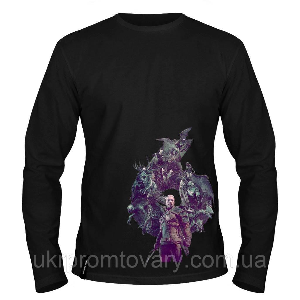 Лонгслив мужской - Ведьмак, отличный подарок купить со скидкой, недорого