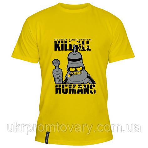 Мужская футболка - Перезагрузка системы, отличный подарок купить со скидкой, недорого, фото 2
