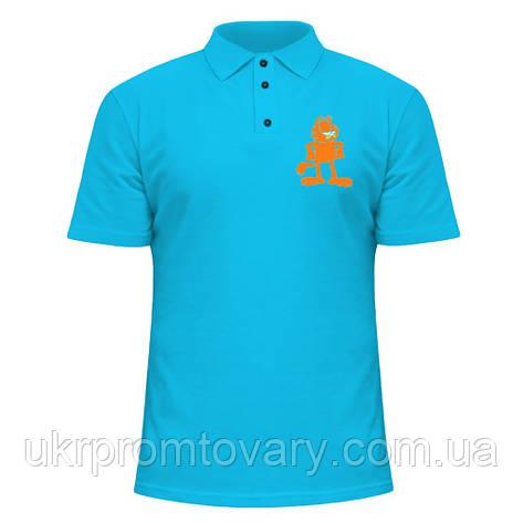Мужская футболка Поло - Гарфилд, отличный подарок купить со скидкой, недорого, фото 2