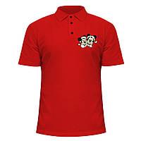 Мужская футболка Поло - Минни и Микки, отличный подарок купить со скидкой, недорого