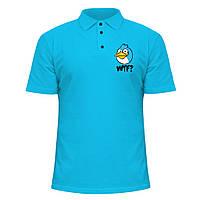 Мужская футболка Поло - WTF Angry birds, отличный подарок купить со скидкой, недорого