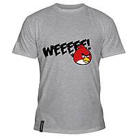 Мужская футболка - Weeeee Angry Birds, отличный подарок купить со скидкой, недорого