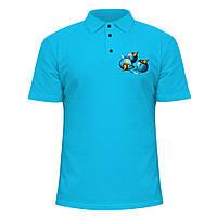 Мужская футболка Поло - Angry Birds Space, отличный подарок купить со скидкой, недорого