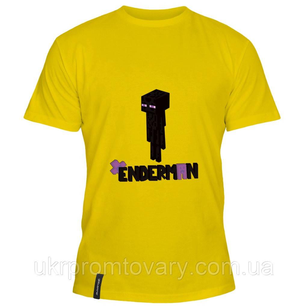 Мужская футболка - Enderman minecraft, отличный подарок купить со скидкой, недорого