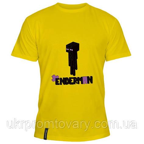 Мужская футболка - Enderman minecraft, отличный подарок купить со скидкой, недорого, фото 2