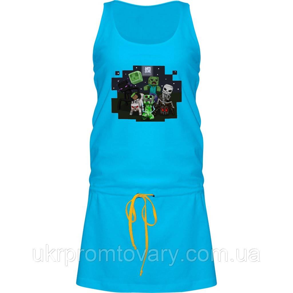 Платье - Minecraft Кубы, отличный подарок купить со скидкой, недорого
