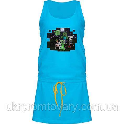 Платье - Minecraft Кубы, отличный подарок купить со скидкой, недорого, фото 2