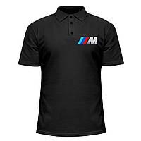Мужская футболка Поло - BMW M Power, отличный подарок купить со скидкой, недорого
