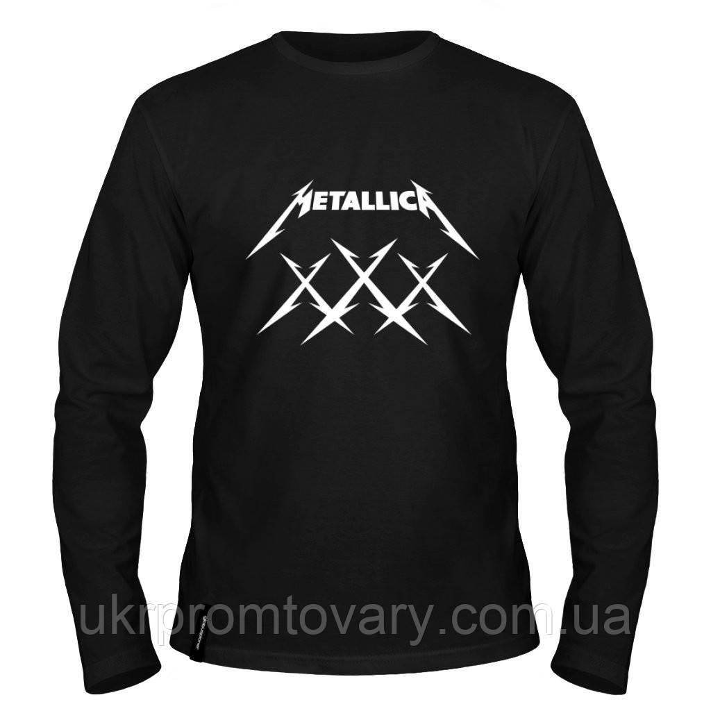 Лонгслив мужской - Metallica XXX, отличный подарок купить со скидкой, недорого