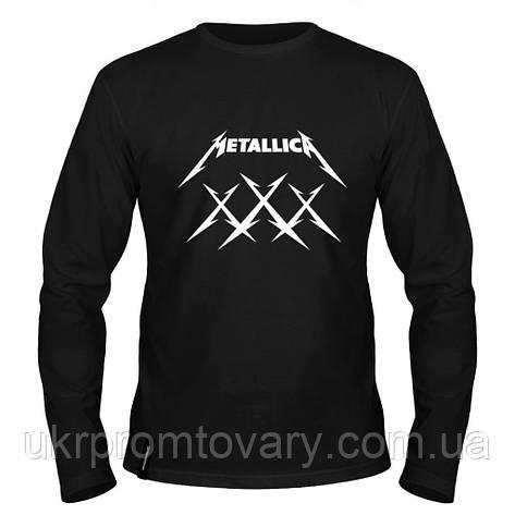 Лонгслив мужской - Metallica XXX, отличный подарок купить со скидкой, недорого, фото 2
