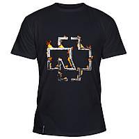 Мужская футболка - Rammstein в огне, отличный подарок купить со скидкой, недорого