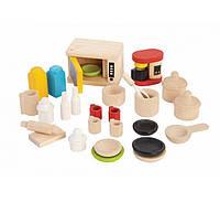 """Деревянная игрушка """"Аксессуары для кухни и столовая посуда"""", PlanToys"""
