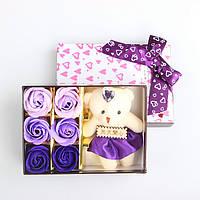 Натуральное мыло ручной работы - 6 Бутонов Роз и Игрушка