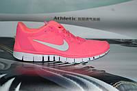 Женские повседневные кроссовки NIKE Free Run 3.0 розовые