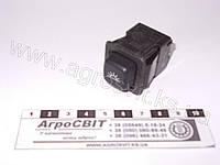 Выключатель кнопочный освещения салона (12V), 3832.3710-02.09  трактора, грузовой машины, автобуса, тягача, спецтехники, комбайна, экскаватора,