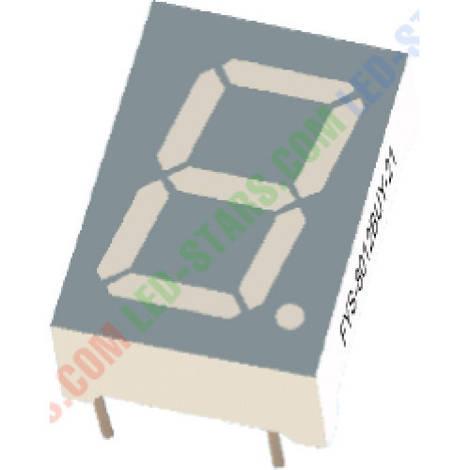 Зеленый семисегментный LED индикатор FYS-8012 BG-21 (20*9*27,7)  1-разрядный FORYARD (общий анод)