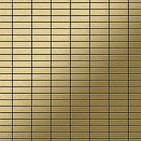 Мозаика из цельного металла шлифованный титан Gold золотого цвета толщиной 1,6 мм ALLOY Cabin-Ti-GB