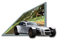 Часы настенные фигурные 30*45 см - Стильное ретро 3D фотопечать