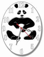 Часы настенные фигурные 30*40 см - Панда 3D фотопечать