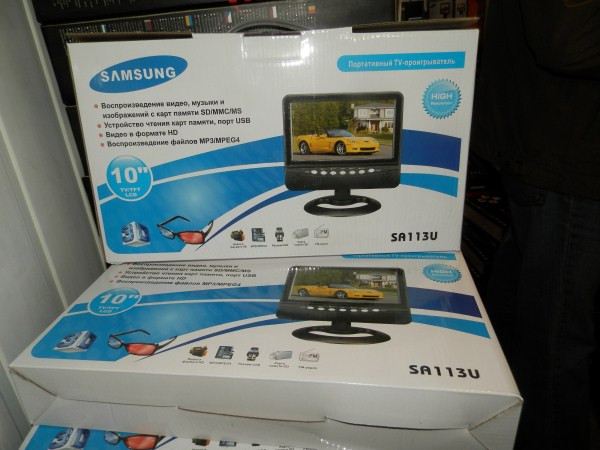"Телевизор LCD 9.5"" USB  ДУ  аккумуляторный SA113U"