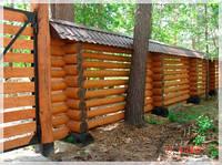 Забор деревянный со сруба