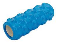 Роллер массажный(GRID) для йоги и пилатеса синий CS-5394B