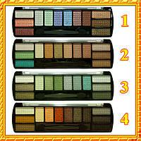 Тени Meis MS-2012 Многоцветные Сатиновые Компактные Оптом Упаковкой, 4 тона