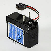 Аккумулятор для мегафона 6В с выдвижным штекером и встроенным зарядным устройством от сети 220В, фото 1