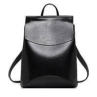 Рюкзак сумка женский с клапаном (черный)