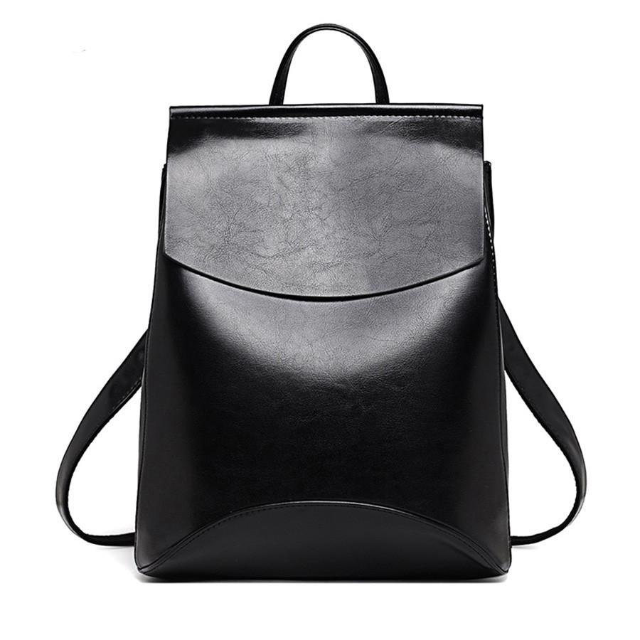 2a111e4e8017 Рюкзак сумка женский с клапаном (черный), цена 748,75 грн., купить в ...