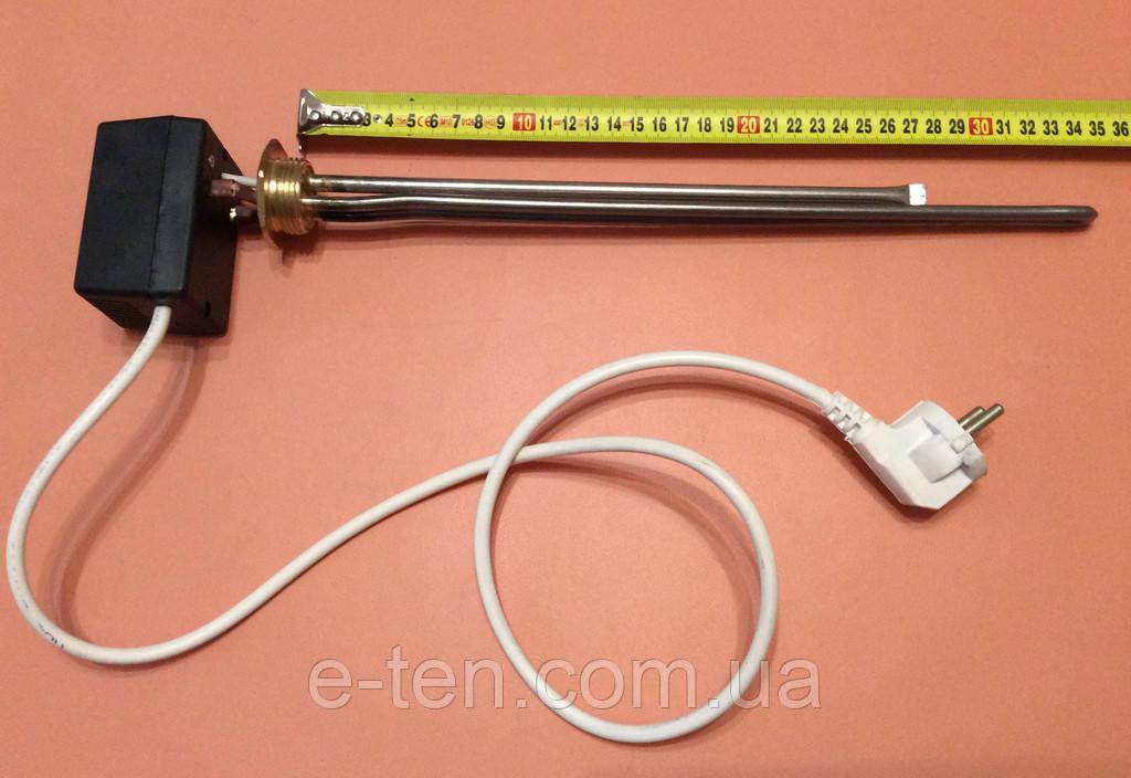 """Тен батарейний нержавійка 700W (Туреччина) / різьба 1"""" для алюмінієвих батарей з ЦИФРОВИМ терморегулятором DALAS"""