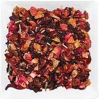 """Чай фруктовый натуральный на основе гибискуса (чёрного чая, зелёного чая) """"МОДНЫЙ НАГЛЫЙ ФРУКТ"""""""