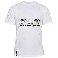 Мужская футболка - Rammstein Minimalism, отличный подарок купить со скидкой, недорого