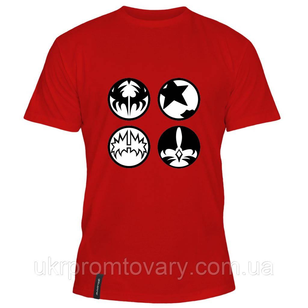 Мужская футболка - Kiss, отличный подарок купить со скидкой, недорого
